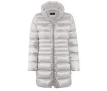 Diamond-Jacke l Tailliertes Longjacket in Stepp-Optik in CRYSTAL grau