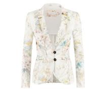Taillierte Blazer mit Print | Argument-Blazer in OFF weiß / CITRUS