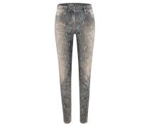 Airfield JPL-556 | Jeans mit Animalprint in CRYSTAL grau