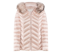 Delight-Jacket l Taillierte Daunenjacke mit Fell in POWDER rosé