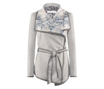 Fly-Jacket l Jacke mit Snakeprint zum Binden in CRYSTAL grau