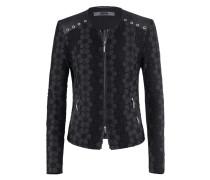 Bloom-Jacket l Blouson mit Blumen-Dekor in schwarz