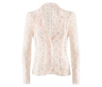 Circle-Blazer | Tailliertes Jacket mit Blumendekor in NUDE