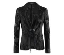 Transparenter Blazer mit Kordel-Schließe | Always-Blazer in schwarz