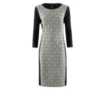 KL-518 Kleid in OFF weiß / schwarz