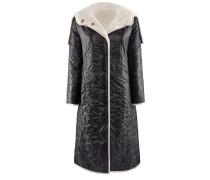 Frozen-Mantel | Schwarzer Steppmantel mit hellem Futter in JET schwarz
