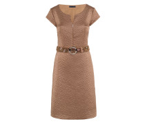 KL-525 Kleid in TOBACCO BROWN