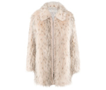 Image-Coat | Mantel aus Fake Fur in NUDE