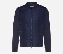 Jacke mit gesteppter Front blau