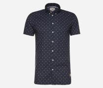 Hemd mit Punkten 'Revello' blau