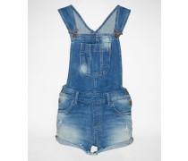 Shorts mit Latz 'Lorella' blau