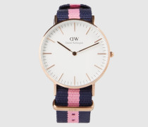 Uhr 'Classic Collection - Winchester (Gehäuse: 36mm)' blau/gold/pink