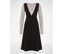 Kleid 'Emilia' grau/schwarz