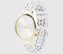 Armbanduhr 'Estelle Cutout' weiß