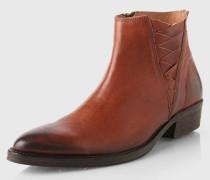 Boots mit Flecht-Detail 'Sfbibi' braun