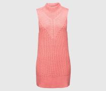 Grobstrickpullover ohne Ärmel 'Antonia' pink