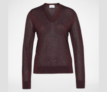 V-Neck Pullover 'Phillippe' blau/rot