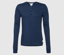 Langarmshirt 'Home Alone' blau