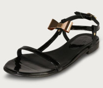 Lack-Sandale 'Easy' schwarz