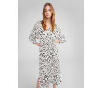 Kleid 'Zavier' weiß/schwarz