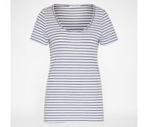 Shirt 'Nobel Tee Stripe 3173' blau/weiß