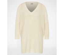 Oversized Pullover 'NMVera' beige