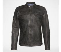 Leder-Jacke im im Biker-Stil 'Lennon 17' grau