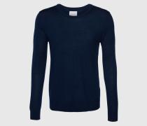 Pullover aus Merinowolle 'Loke' blau