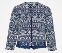 Jacket 'Rania' blau/weiß