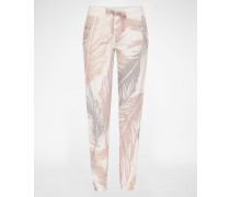 Sweathose pink/weiß