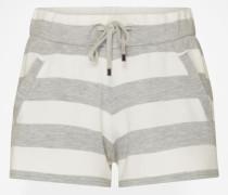 Shorts mit Streifenmuster grau