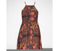 Kleid 'Oriental Garden' braun