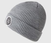 Mütze mit Logo-Patch grau