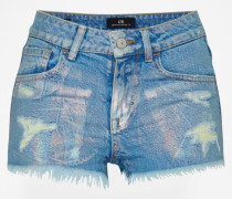 'Pamela' Denim Shorts blau
