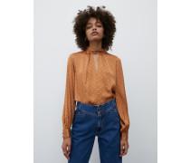 Bluse 'Ashley' braun/orange