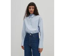 Bluse 'Gianna'  - (GOTS) blau