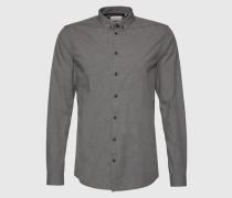 Hemd in Melange-Design 'Popel' grau