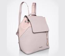 Rucksack mit Klappe lila/pink