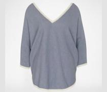 Pullover mit Halbarm blau