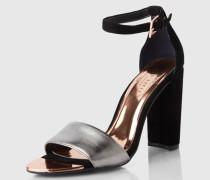 Sandaletten aus Veloursleder 'Caiye' schwarz