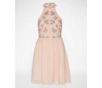 Kleid mit Perlenverzierung pink