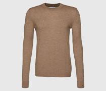 Pullover 'Gees' beige/braun