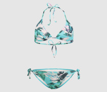 Triangel-Bikini 'STRUCTURE' blau/lila