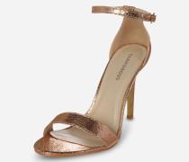 High-Heel im Metallic-Look bronze