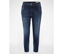 'Fayza-Evo' Jeans Tapered Fit 860L blau