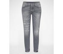 Jeans 'JOSIE CROP' grau