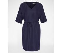 Kleid mit V-Ausschnitt 'Bojanna' blau