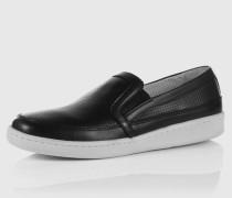 Slip-On aus Leder schwarz