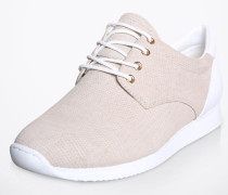 Sneaker 'Kasai' aus Leder in Schlangen-Optik beige