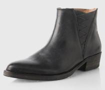 Boots mit Flecht-Detail 'Sfbibi' schwarz